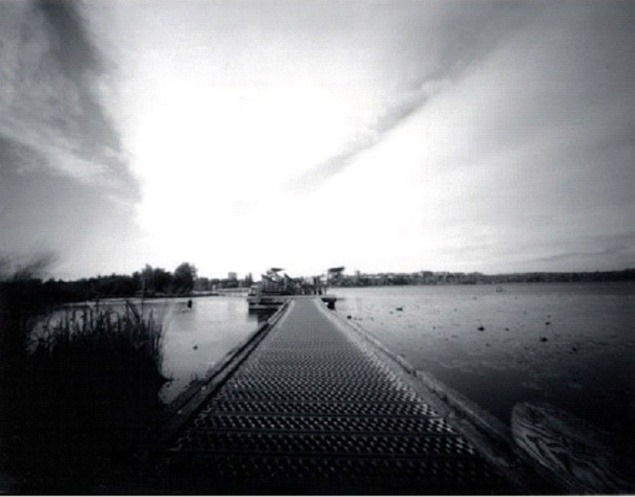 Ellen Sollod, Lake Washington Palimpsest series: Black River, 2008. Archival carbon print from a pinhole photograph.