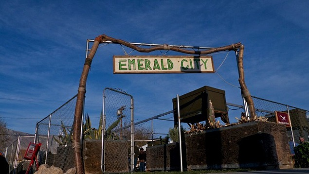 The entrance to Emerald City, otherwise known as Metabolic Studio's IOU Garden in downtown Lone Pine. Photograph by Adam Levine, Courtesy of the Metabolic Studio, 2012.