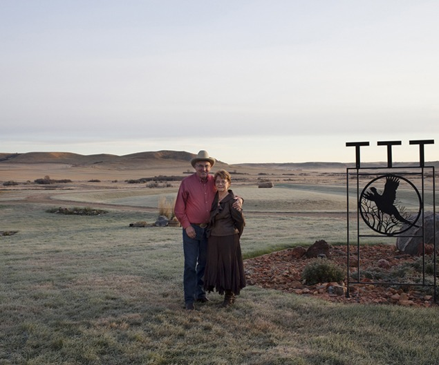 Fred and Joyce Evans at home, Little Knife River Valley, October 2011. Photo by Terry Evans.