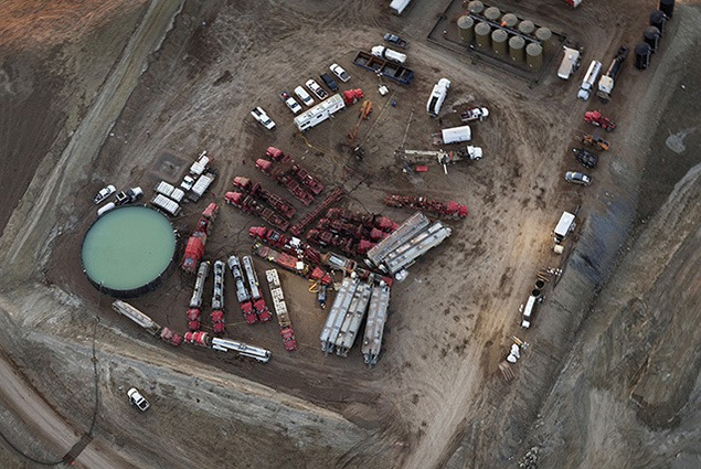 Fracking in the Bakken, April 2012, Photo by Terry Evans