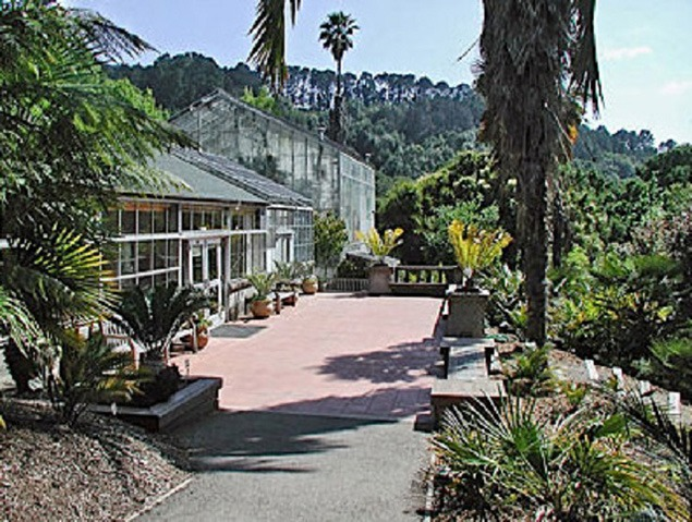 The entrance of the UC Berkeley Botanical Garden in Strawberry Canyon above the university campus.