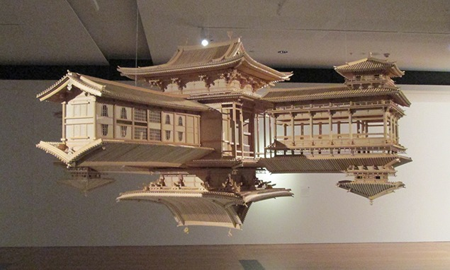 Takahiro Iwasaki, Reflection Model, Japanese cedar, 2010-12. Image courtesy of the Queensland Art Gallery.