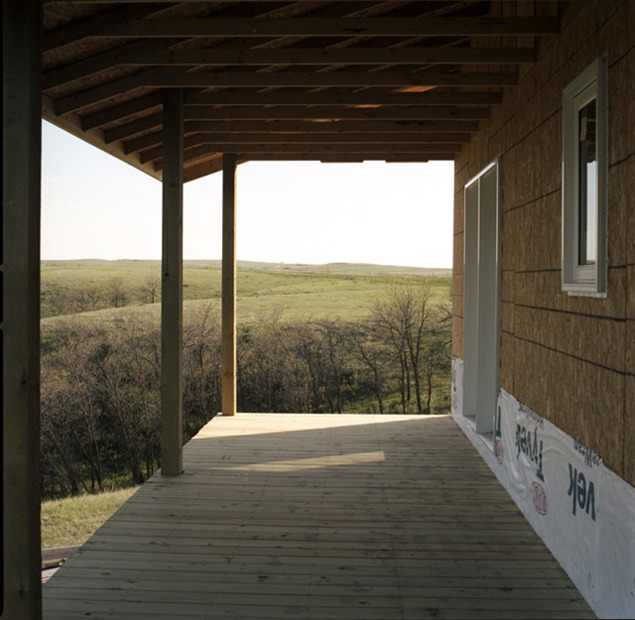 Kevin Davis' porch near White Earth, ND, June 2011. Photo by Terry Evans.