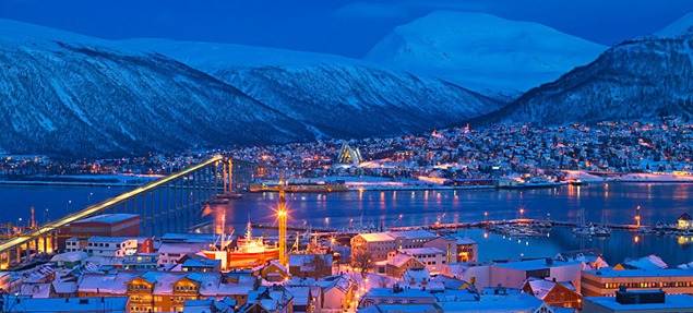 Tromsø in winter twilight. Photo by Bård Løken