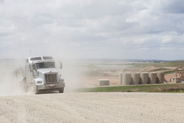 Truck dust near Highway 1804, May 2012. Photo by Terry Evans.