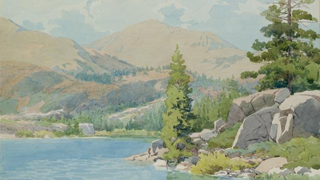 Alfred Harrison on Lorenzo Latimer at Lake Tahoe