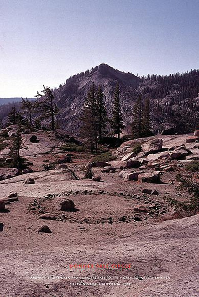 Richard Long Donner Pass Circle, 2005 Chromogenic print, unique 54 x 42 inches (137,2 x 106,7 cm) SW 05672