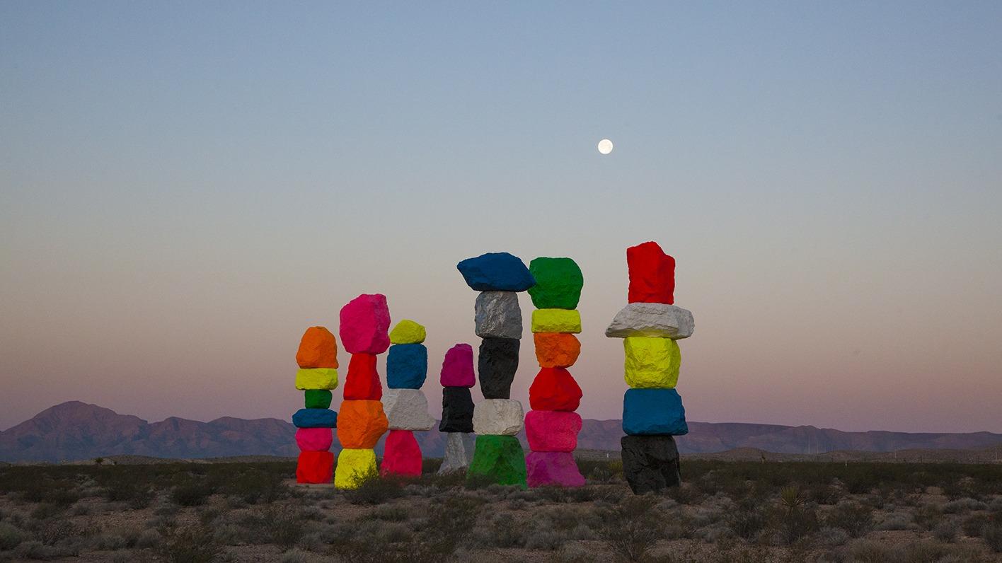 Amber Nevada Wiki ugo rondinone: seven magic mountains | nevada museum of art