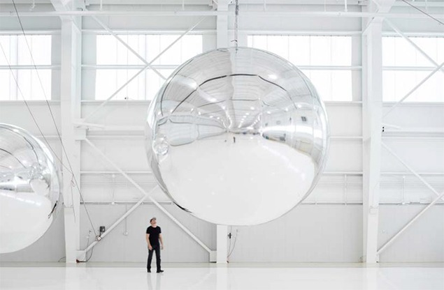 Test balloon for Travor Paglen's Orbital Reflector. Image courtesy of Trevor Paglen.