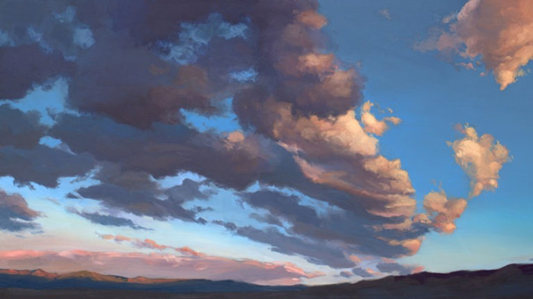 Landscapes in Oil: Dramatic Skies