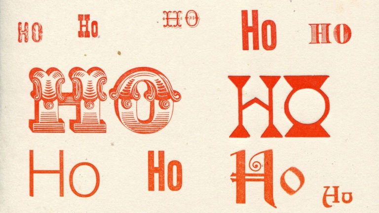 Holiday Cards: Wood Type Printing on the Press