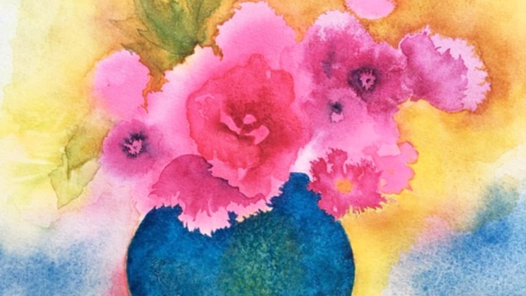 Impressionistic Bouquets in Watercolor