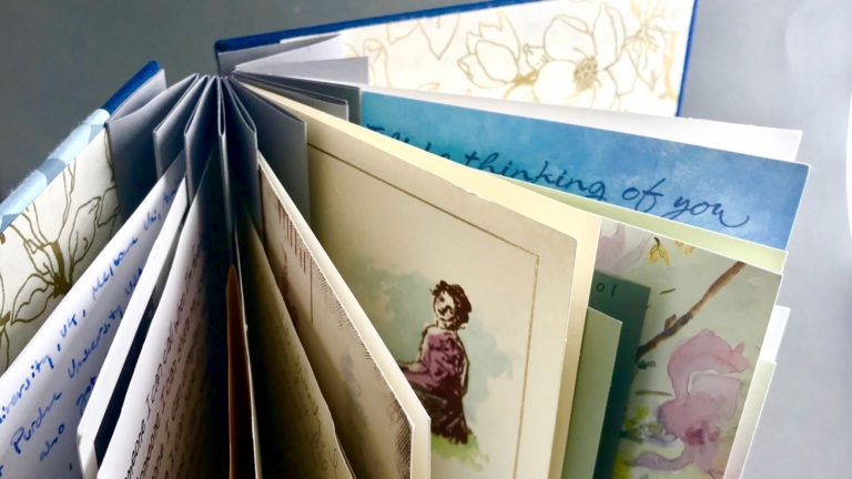 Hand-Stitched Greeting Card Book