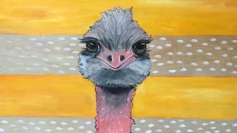 Stylized Birds in Acrylic