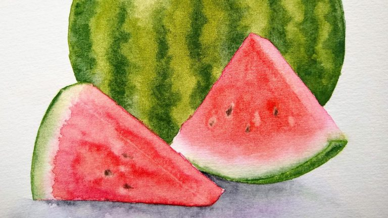 Beginning Watercolor: Summer Watermelons