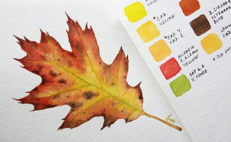 Autumn Leaves in Watercolor