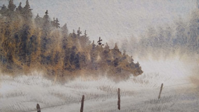 Watercolor for Beginners: Winter Landscapes