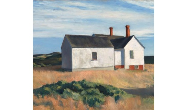 Edward Hopper Inspired Oil Landscape Painting