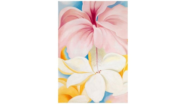 Georgia O'Keeffe Inspired Large Scale Watercolor Flowers