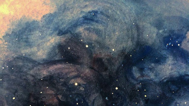 Girls' Night Out: Watercolor Galaxies or Night Skies