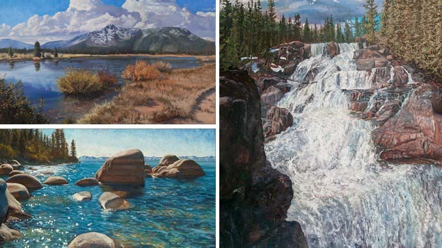 Mastering the Elements of the Landscape – Water, Lakes & Streams in Oils