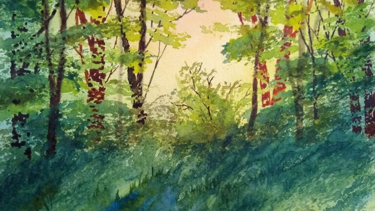 Trees in Watercolor